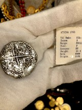 ATOCHA 1622 BOLIVIA 8 REALES GRADE 1 w/FISHER TREASURE COA PIRATE GOLD C... - $2,450.00