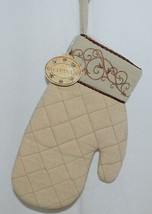 Grasslands Road Brand Cucina Style Set of Two Quilted, Embroidered Light Tan Ove image 2