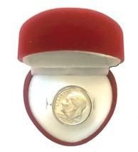 Funny Redneck Valentine DIME-IN-RING Hillbilly Engagement Gag Gift-RED H... - $10.75