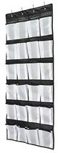 Shoe Organizer Hanging Over the Door, 24 Large Mesh Pockets Shoe Storage with 4