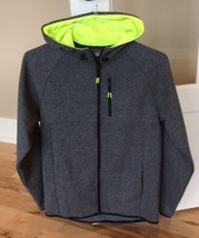Russell Hoodie Jacket Mens Zip Tech Size S Charcoal Gray New Long Sleeve Fitness - $19.99