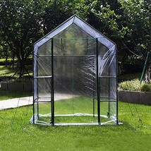 """4HOMART Green House 56"""" W x 29"""" D x 77"""" H, Walk-in Greenhouse with PE Co... - $59.67"""