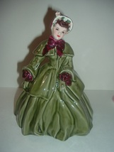 Florence Ceramics Abigal in Green Gown Lady Figurine - $69.99