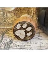 Wine Stopper, Dog Paw Print Handmade Wood Bottle Stopper, Dog Lover Gift - $8.86