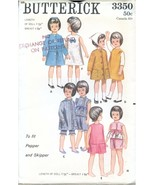"""Butterick 3350 UNCUT Sewing Pattern 9.5"""" Teen Dolls Clothes Pattern Orig... - $19.99"""