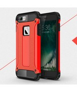 Armor Guard Plastic + TPU Hybrid Cover Case for iPhone 8/7 - Red - $4.16