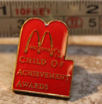 McDonalds Child of Achievement Awards Employee Collectible Pinback Pin Button - $12.44