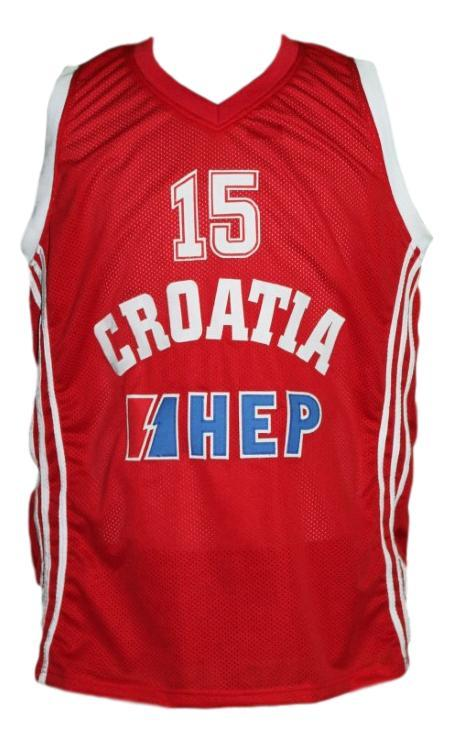 Dario saric croatia basketball jersey red   1