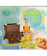 COCKTAIL SOPHISTICATE CLEAR ICE SPHERE MAKER TAKES OVER AN HOUR TO MELT - $24.00