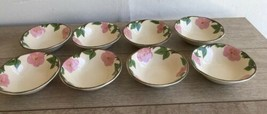 "Set 8 Franciscan Desert Rose Bowls 6"" Round Cereal Berry New Modern - $49.49"