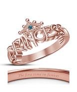 Sim Diamond 925 Silver Disney Princess Merida Crown Ring Classy Finger J... - $50.40