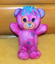 "Doodle Bear Pink Plush 9"" Jakks Play Along Blue & Lavender Accents - $5.29"