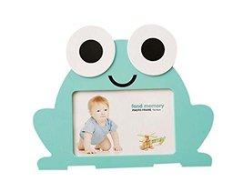 6 inch Creative Cartoon Cute Baby Photo Frame Blue Frog Models