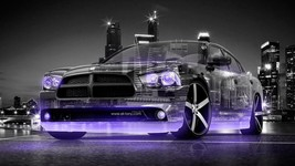 2015 Dodge Charger RT Violet Neon  24x36 inch poster or 8x10 photo - $18.99