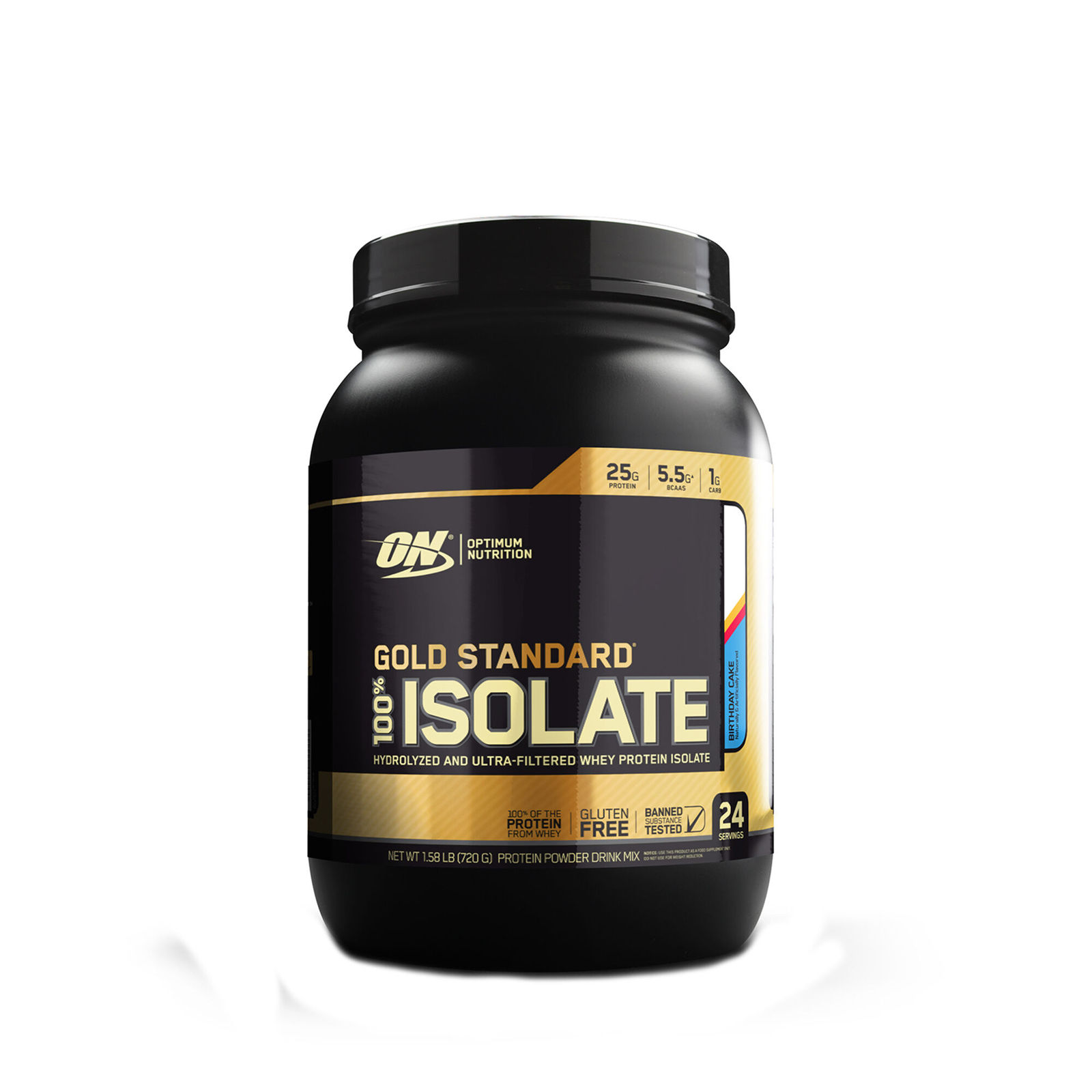 Primary image for Optimum Nutrition ON GOLD STANDARD 100% ISOLATE  (Birthday Cake) 24 servings 1.5