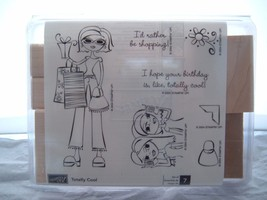 Totally Cool Stampin' Up Retired Girls Shopping Teenagers 2004 New Free Ship - $16.95