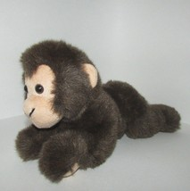 Wildlife artists plush baby monkey  lying down brown stuffed soft toy 2003 - $9.89