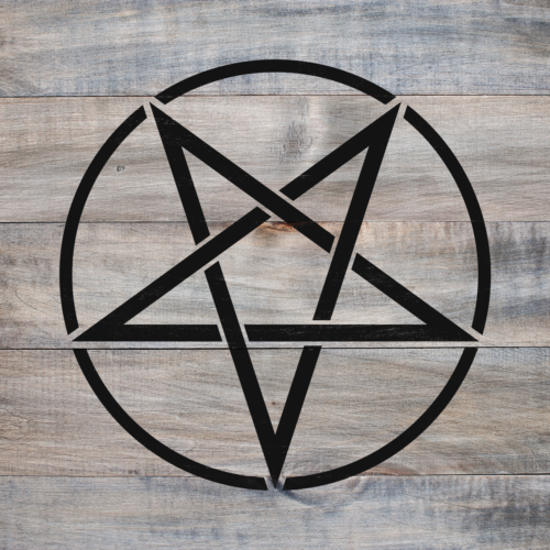 Pentacle Stencil - Durable & Reusable Mylar Stencils