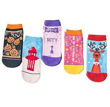 Cartoon Low Cut Socks for Women and Men 6-Pack Novelty Painted Ankle Socks Crew