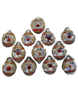 Commodore Christmas Classics Glass Ornaments Set Of 12 Hand Decorated |... - $49.00