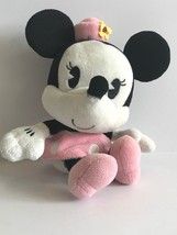 "Disney Parks Minnie Mouse Bobble Head Pink Hat Polka Dot Dress Plush 8"" ... - $11.29"