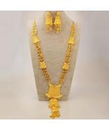 New Ethiopian Bride Jewelry Set Gold Color & Copper Arab Dubai Necklace ... - $233.00