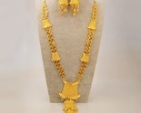 E jewelry set gold color copper arab dubai necklace earrings african nigeria party thumb155 crop