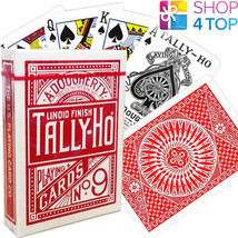 BICYCLE TALLY HO CIRCLE PLAYING CARDS DECKS STANDARD INDEX LINOID FINISH... - $6.03