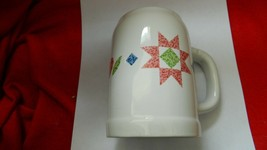 Corelle Quilt Pattern Ceramic Beer Stein Or Large Mug Free Usa Ship Please Read - $18.69