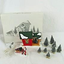 Vintage Dept 56 Snow Village Nick's Tree Farm Lighted Building Accessori... - $59.39