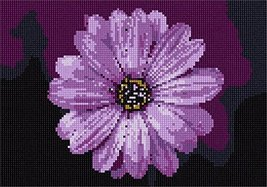 pepita I Love Purple Flower Needlepoint Canvas - $50.00