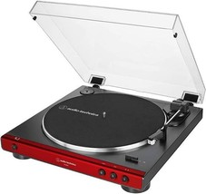Audio Technica AT LP 60X Red Turntable Fully Automatic Stereo Record Player - image 2