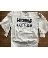 MICHIGAN Architecture School Champion Reverse Weave Sweatshirt XL 90s U ... - $55.58