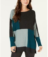 $54.00 Style & Co Patch Colorblocked Tunic Sweater, Size Small - $19.45