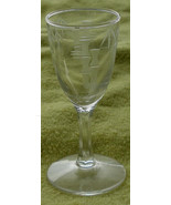 Nice Bamboo Pattern Etched 1 Ounce Cordial, VG COND - $7.91