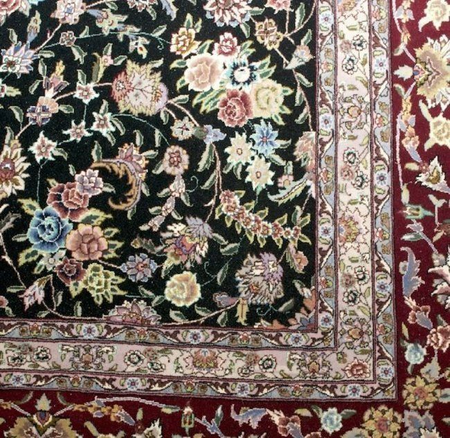 """$ 15000.00 A Persian -Chinese Tabriz Silk and Wool Rug,  14' 2"""" x 9' 8""""."""