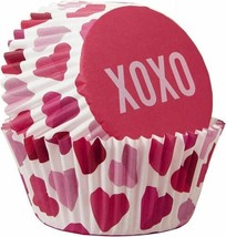 XOXO Valentine's Day 75 Ct Baking Cups Cupcake Liners Wilton - $3.95