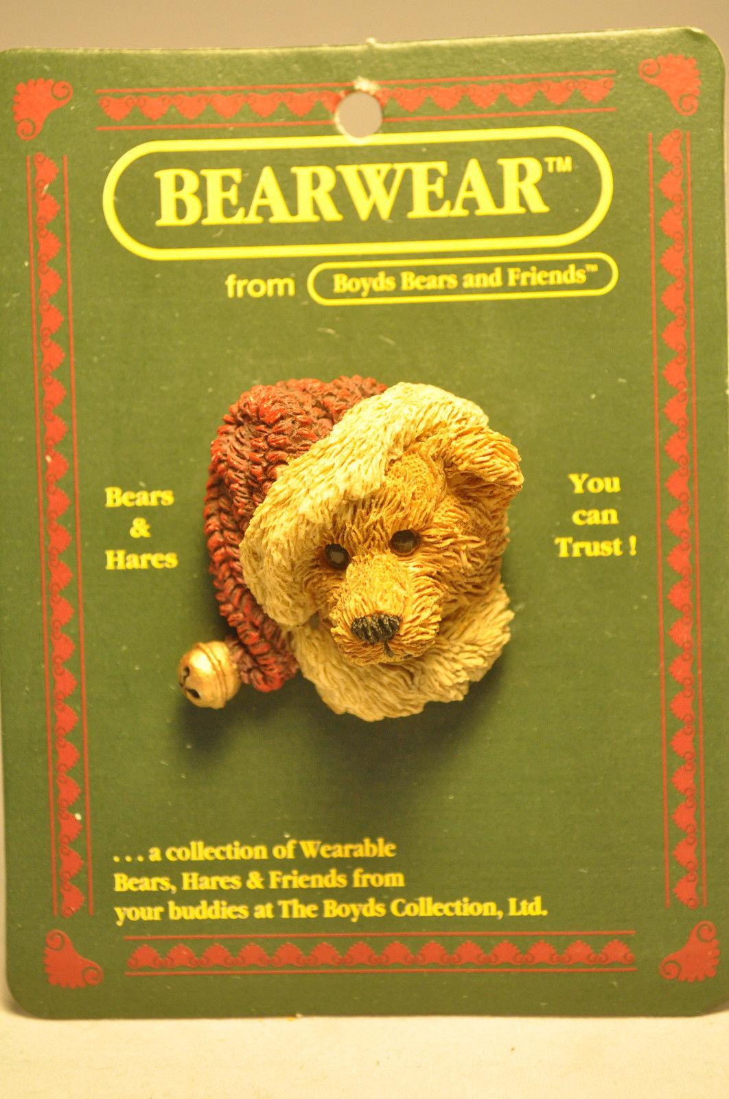 Boyds Bears & Friends: BEARWEAR - Santabear - Brooch Pin 26101