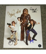 Mark Hamill Peter Mayhew Carrie Fisher  Harrison Ford Signed Photo COA - $599.99