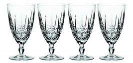 Waterford Marquis Sparkle Iced Beverage Glasses Four Crystal Water Goblets - $53.45