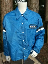 Vintage men's snap button Mercury Boats retro Swingster windbreaker jacket  - $39.77