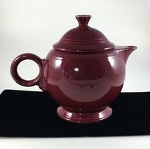 Fiesta Tea Pot Burgundy Maroon Cinnabar Claret Lid Laughlin Decor Retire... - $79.19