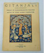 Vintage 1942 Gitanjali John Alden Carpenter G. Schirmer, Inc Sheet Music... - $28.00