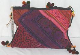 Gemini Mermaids Brand BG005PU Twelve Inch Desert Sunset Color Pom Pom Purse image 3