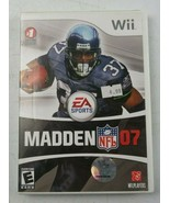 Madden NFL 07 EA Sports Football Nintendo Wii Complete Clean & Tested - $15.00
