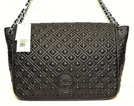 NWT! Tory Burch Marion Black Quilted Leather Flap Shoulder Bag MSRP $550 - $336.59