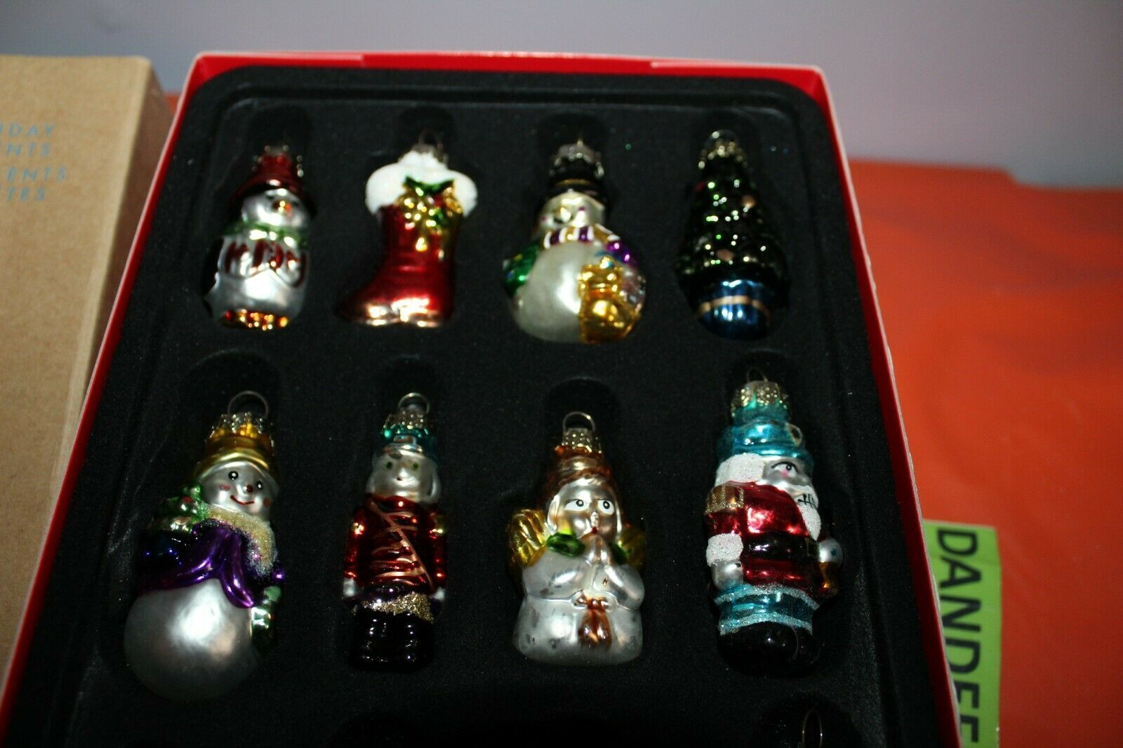 Avon Set Of 12 Glass Christmas Holiday Tree Ornaments image 2