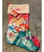 Disney Princess Cinderella Ariel Aurora Pink Christmas Holiday Stocking New - $17.00