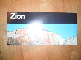 Vintage Zion National Park Utah Brochure 1986 - $4.99