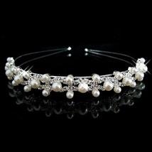 Joyme New Silver Crystal Rhinestone Pearls Hairbands For Women Bridal We... - £5.93 GBP